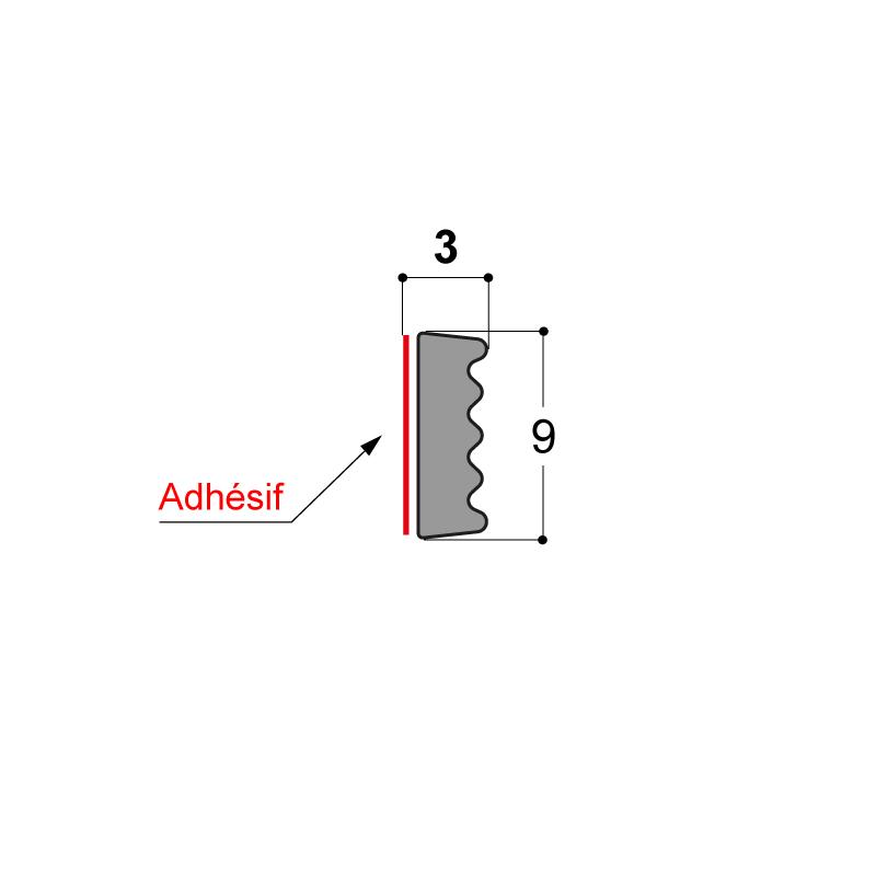 JOINT DE VITRAGE EPDM CELLULAIRE ADHESIF