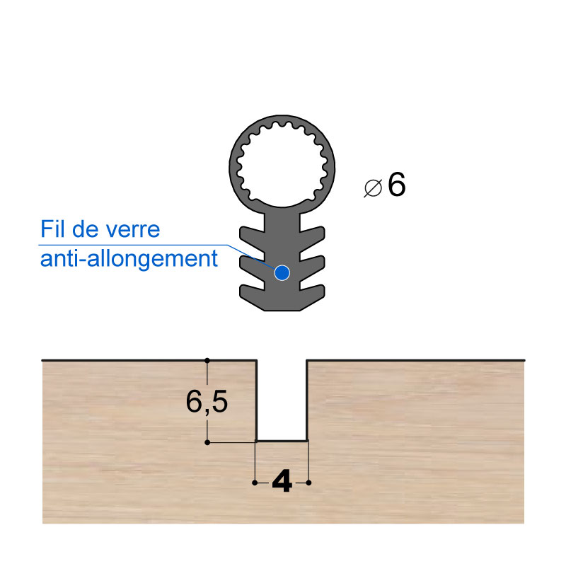JOINT A TUBE EN SILICONE