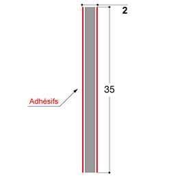 ADHESIF DOUBLE FACE 35X2 MM